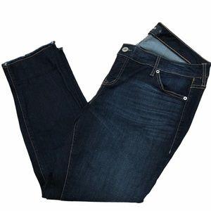 Torrid women's boyfriend raw hem jeans Size 14